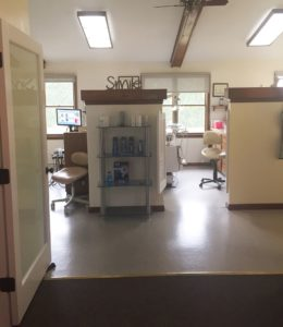 View of the River View Dental office in Hadley MA from the waiting area towards the general dentistry treatment suites.